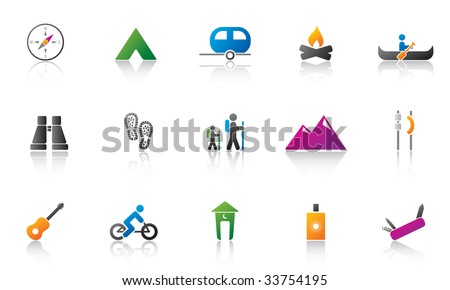 camping / outdoor icon set. high res JPG