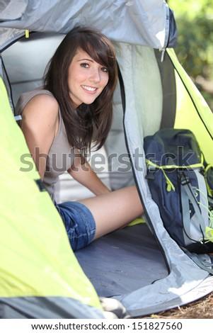 Campsite organization - stock photo