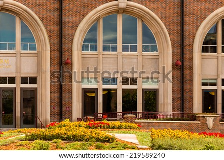 Campus of University of Denver in Fall session. - stock photo