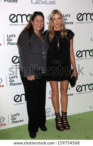 Camryn Manheim and Daryl Hannah at the 23rd Annual Environmental Media Awards, Warner Brothers Studios, Burbank, CA 10-19-13 - stock photo