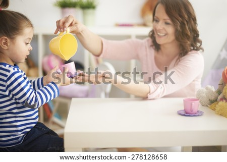 Can I please more coffee and milk?  - stock photo