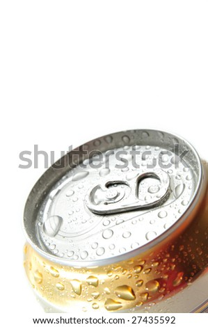 Can of  cold beer isolated on the white background.