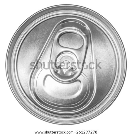 can of soda top view. Clipping path included - stock photo