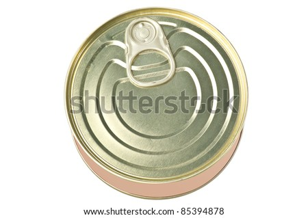 Can of tuna on white - stock photo