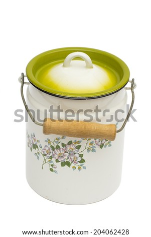 can on the white background - stock photo