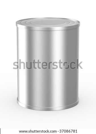 Can on white background. Isolated 3D image