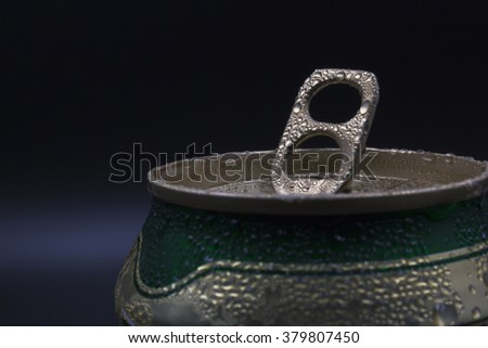 Can pull ring. - stock photo