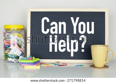 Can You Help - stock photo