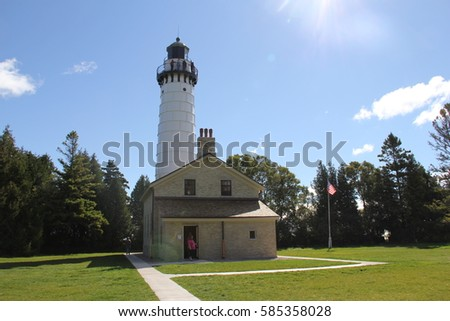 Cana Island Lighthouse Door County Wisconsin & Wisconsin Lighthouses Stock Images Royalty-Free Images \u0026 Vectors ... Pezcame.Com