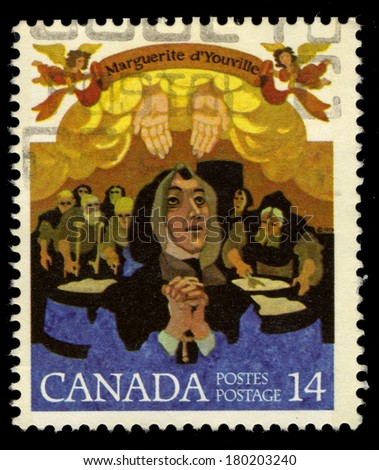 CANADA - CIRCA 1978: A stamp printed Canada shows Mere Youville, circa 1978