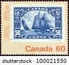 "CANADA - CIRCA 1982: A stamp printed in Canada from the ""Canada 1982 International Philatelic Youth Exhibition, Toronto. Stamps on Stamps."" issue shows a 50c stamp from 1929, circa 1982. - stock photo"