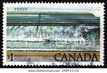 CANADA - CIRCA 1979: a stamp printed in the Canada shows Fundy National Park, circa 1979 - stock photo