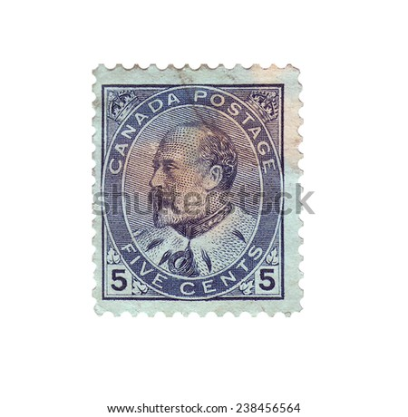 CANADA - CIRCA 1902: Postage stamp with a picture king of Great Britain Edward VII, circa 1902 - stock photo