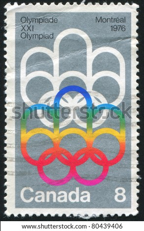 CANADA - CIRCA 1973: stamp printed by Canada, shows Montreal Olympic Games, circa 1973 - stock photo
