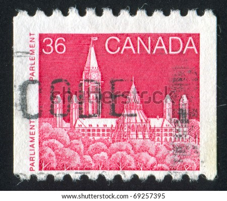 CANADA - CIRCA 1985: stamp printed by Canada, shows parliament, circa 1985
