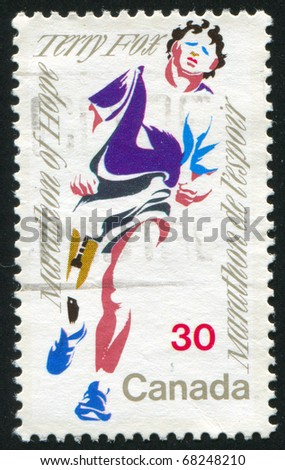 CANADA - CIRCA 1982: stamp printed by Canada, shows Terry Fox, circa 1982