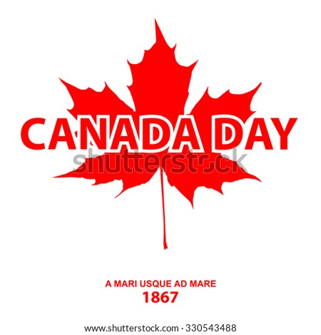 Canada day. Raster version - stock photo