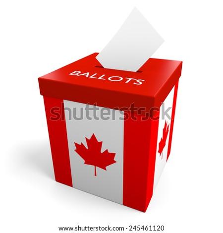 Canada election ballot box for collecting votes - stock photo