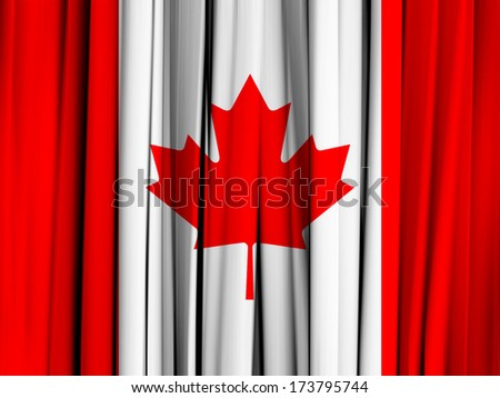 Canada flag and abstract background - stock photo