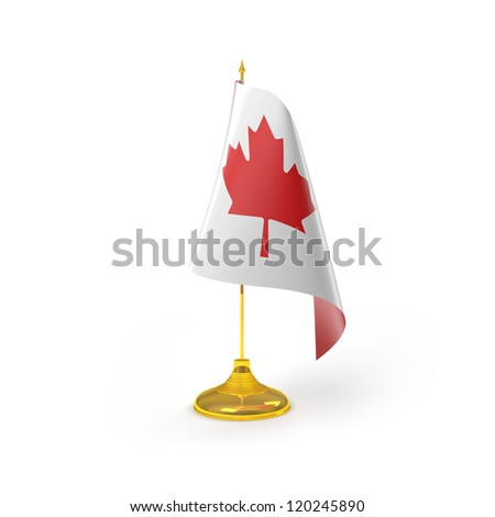 Canada Flag Detail Render - stock photo