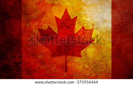 Canada Flag Grunge Texture Background Illustration