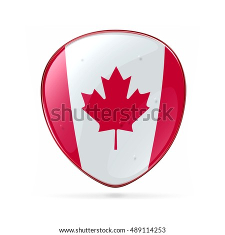 Canada Flag Icon, isolated on white background