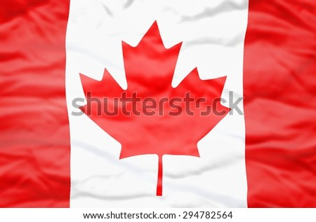 Canada flag. Wavy flag of Canada fills the frame. - stock photo