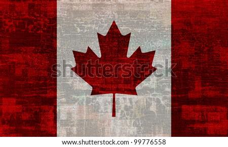 Canada grunge flag background - stock photo