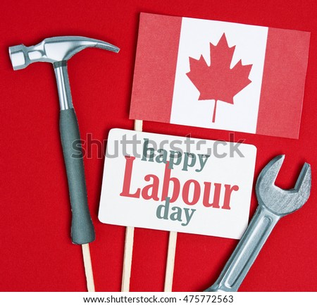 Canada happy labor day greeting card stock photo edit now canada happy labor day greeting card canadian cardboard hammer wrench grunge abstract card m4hsunfo