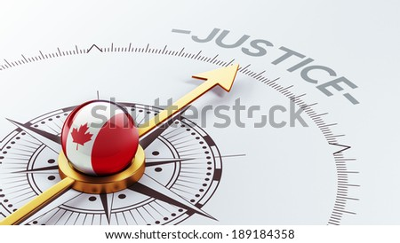Canada High Resolution Justice Concept - stock photo