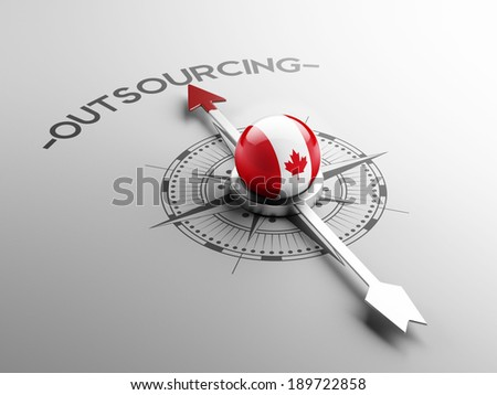 Canada High Resolution Outsourcing Concept - stock photo