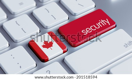 Canada High Resolution Security Concept - stock photo