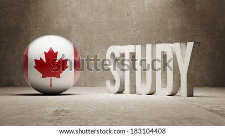Canada High Resolution Study Concept - stock photo