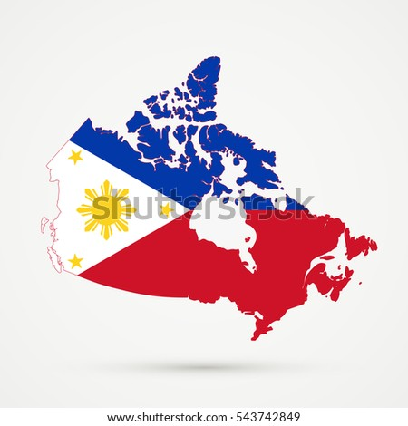 Canada map philippines flag colors stock illustration 543742849 canada map in philippines flag colors gumiabroncs Image collections