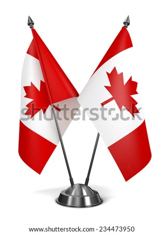 Canada - Miniature Flags Isolated on White Background. - stock photo