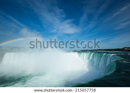 Canada Niagara Horseshoe Falls  - stock photo