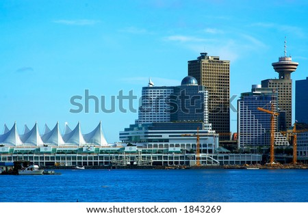 Canada Place harbor view at Vancouver. More with keyword group14b