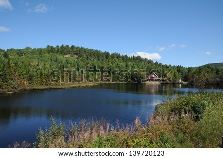 Canada, Quebec, Harvey lake in Saint Simeon