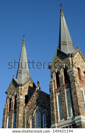 Canada, Quebec, the historical church of  Sainte Anne des monts