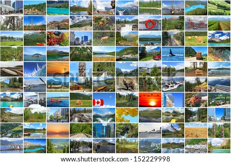 Canada vacation collage photos - stock photo