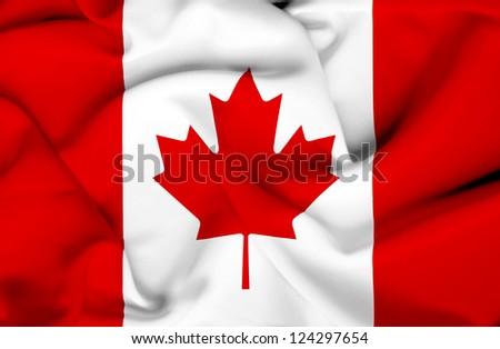 Canada waving flag - stock photo