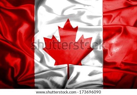 Canada waving flag - stock photo