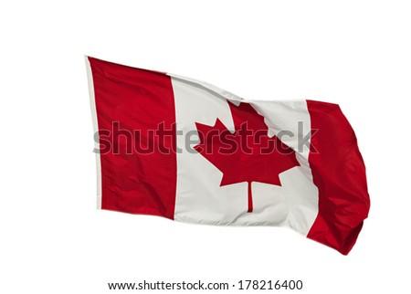 Canadian flag isolated - stock photo
