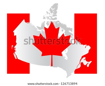 Canadian map - stock photo