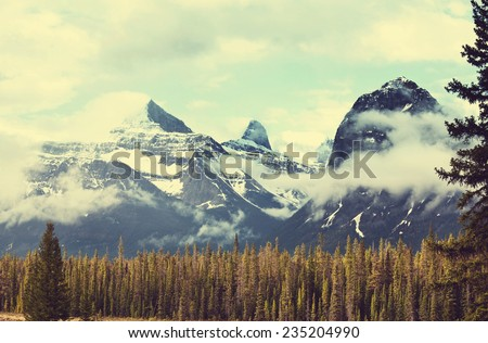 Canadian mountains - stock photo