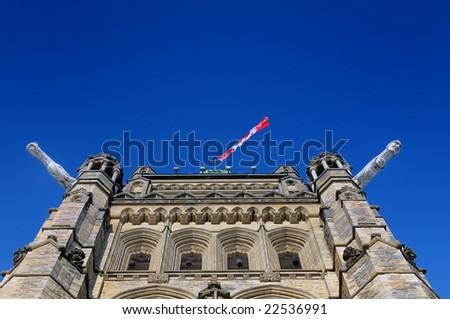 Canadian Parliament - Gargoyles - stock photo