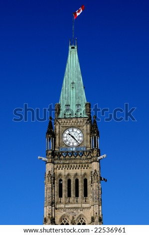 Canadian Parliament - Peace Tower - stock photo