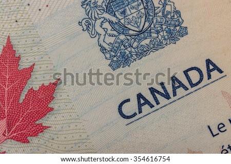 Canadian Passport - stock photo