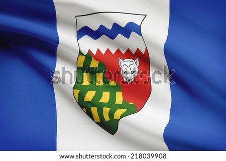 Canadian provinces flags series - Northwest Territories - stock photo