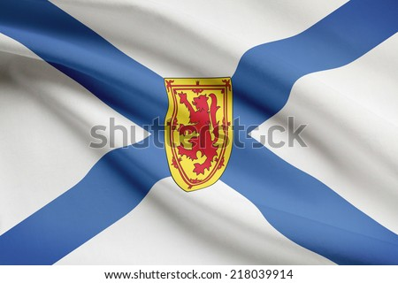 Canadian provinces flags series - Nova Scotia - stock photo